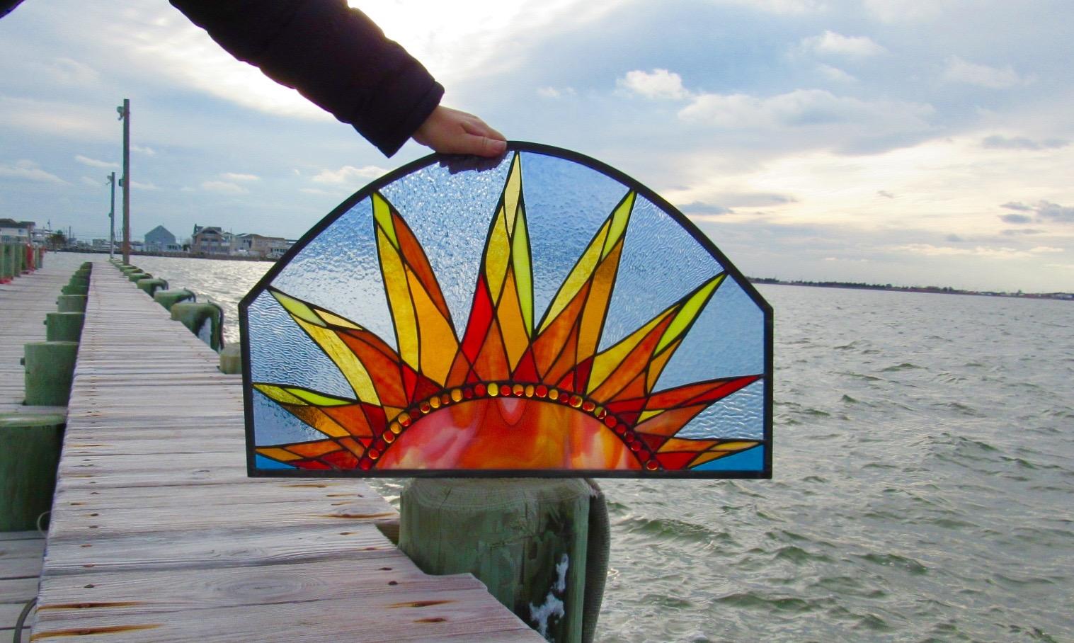 Custom Stained Glass Window.Sunrise.Complete 2.jpg