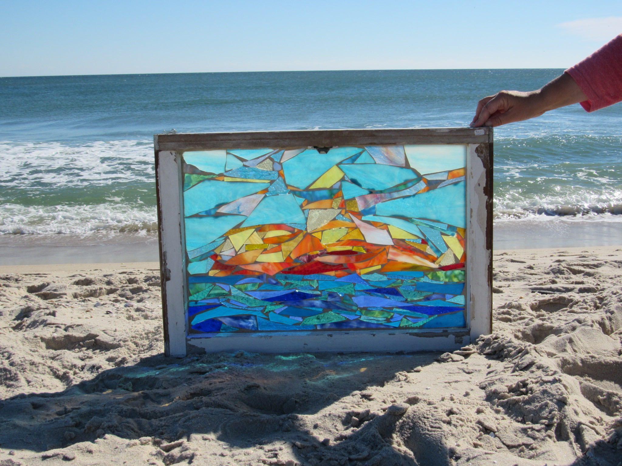 Mosaic on Glass Window-Sunrise 2.jpg