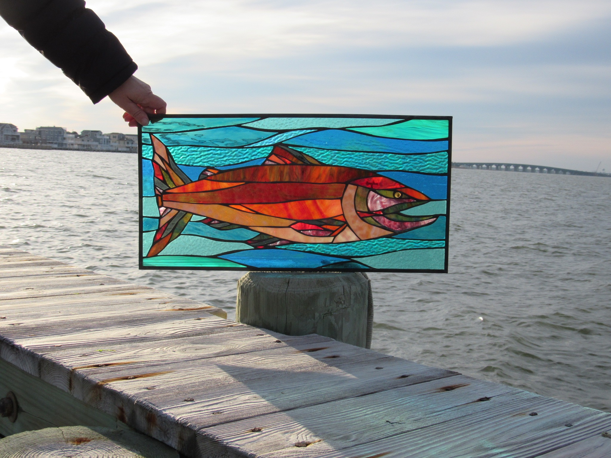 Is Dad a fisherman- or just a teller of tall tales? Either way, a custom stained glass of his favorite fish is an awesome way to celebrate his love of the water!
