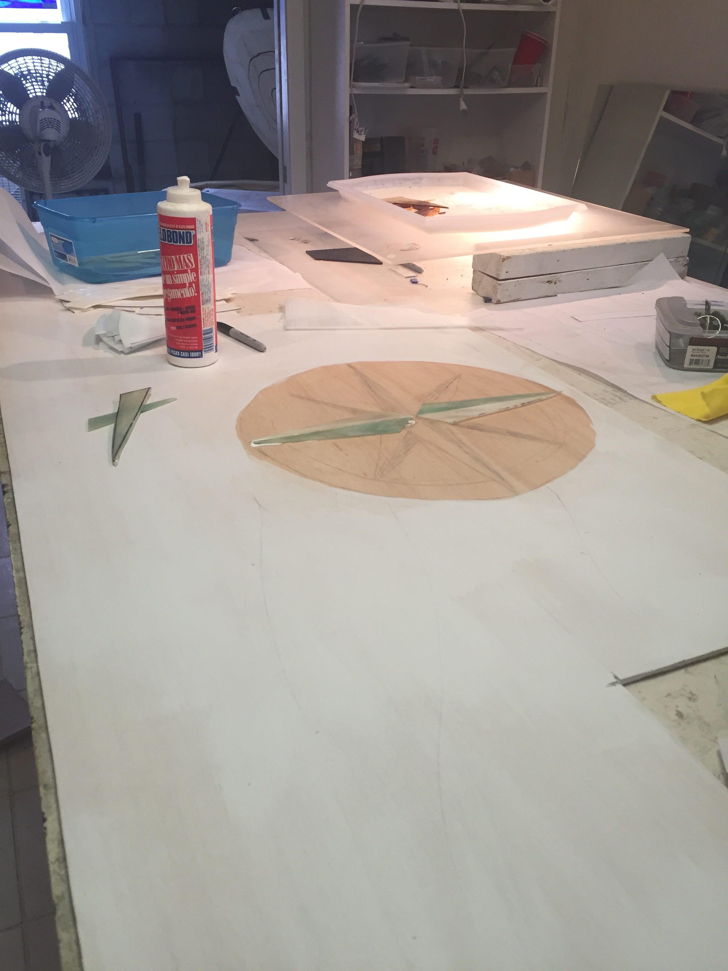 Custom compass backsplash.swellcolors.progress 1.jpg