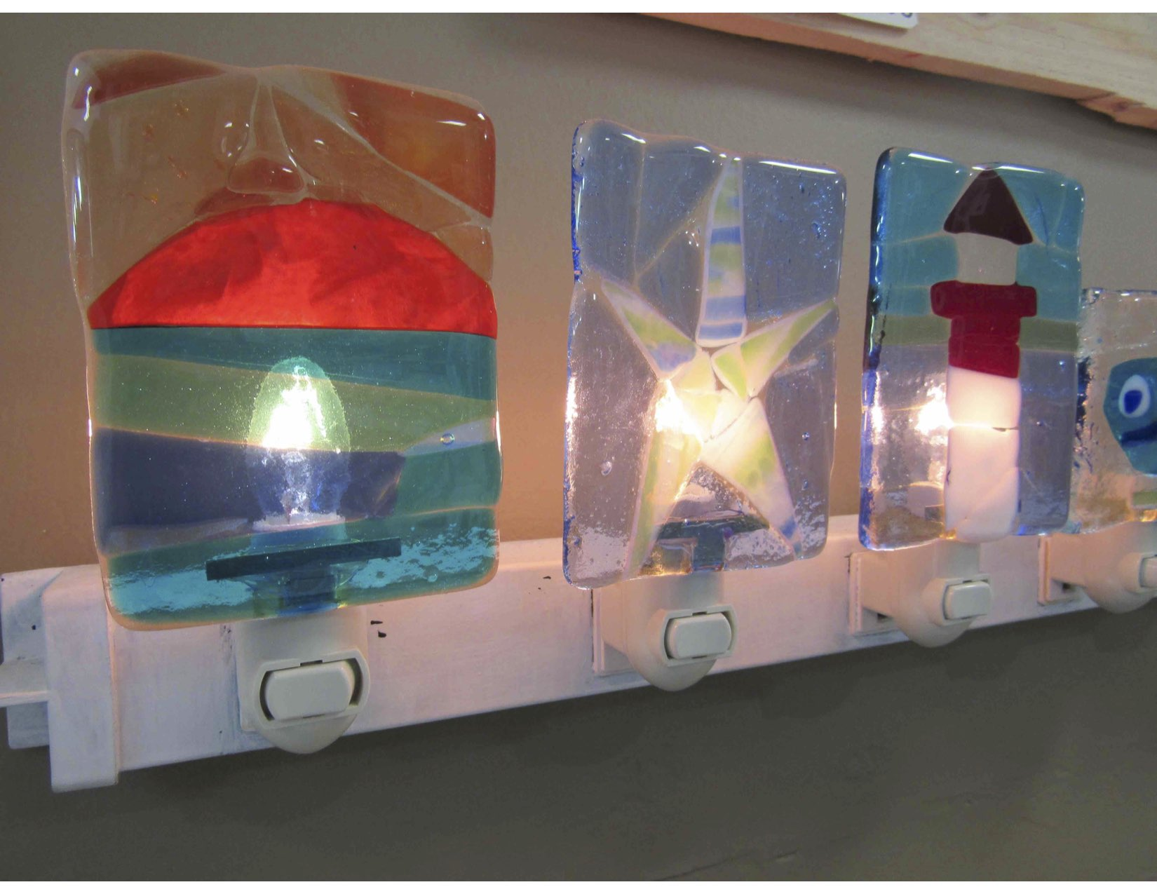 A group of finished nightlights, aren't they so fun?