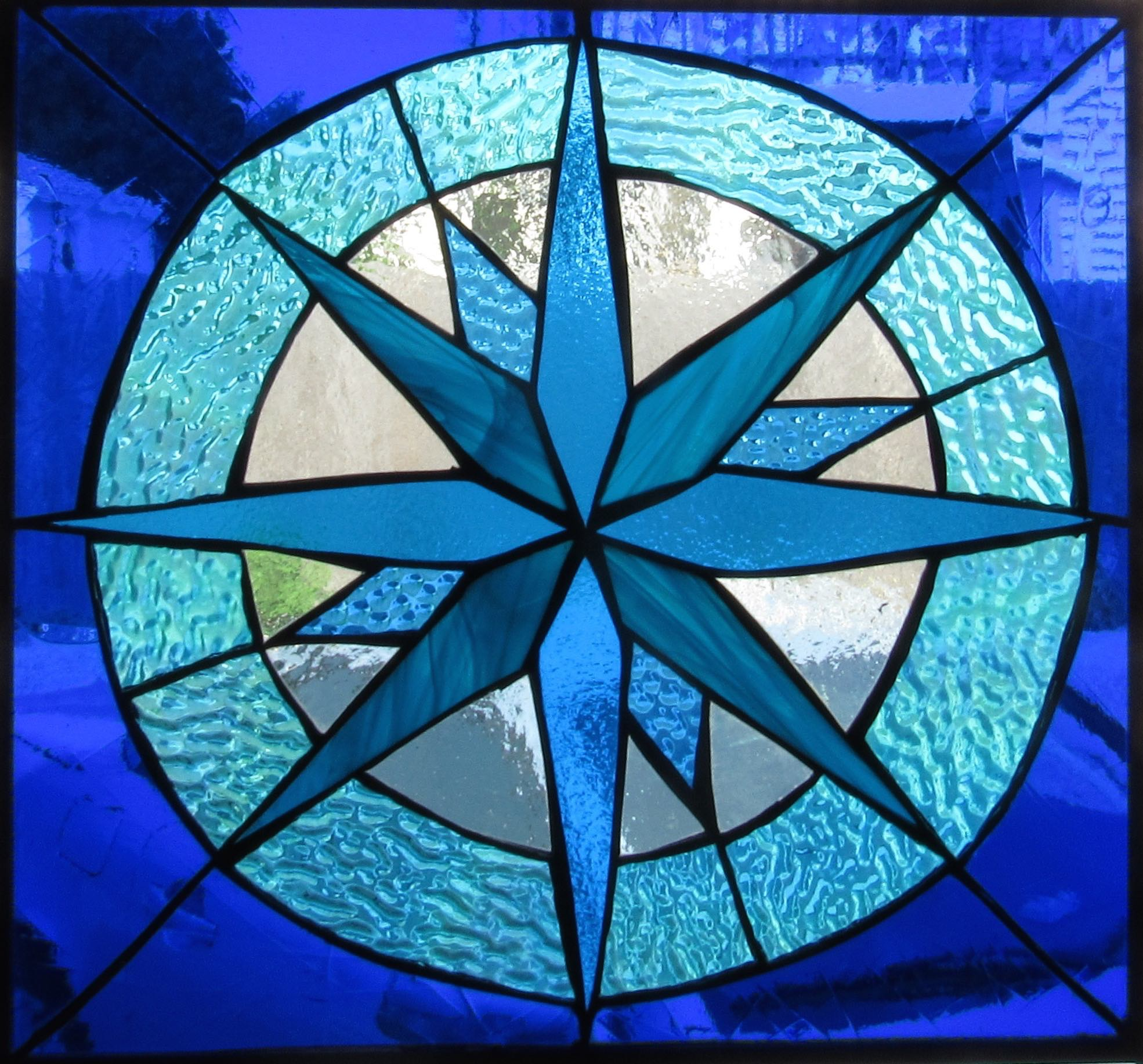 "From the Origin Stained Glass Collection: April 12, ""Guide- Sea"", 2016."