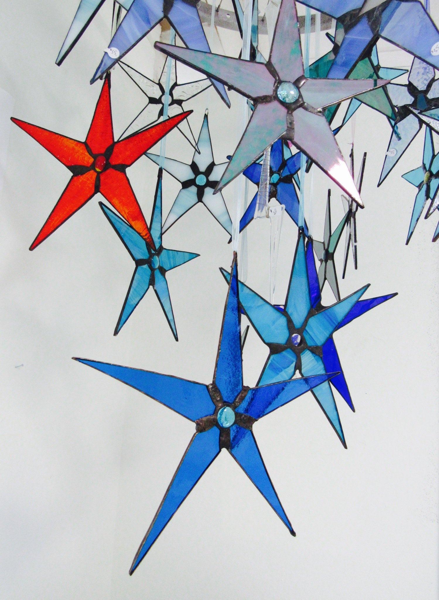 Beautiful Stained Glass Star Sun Catchers