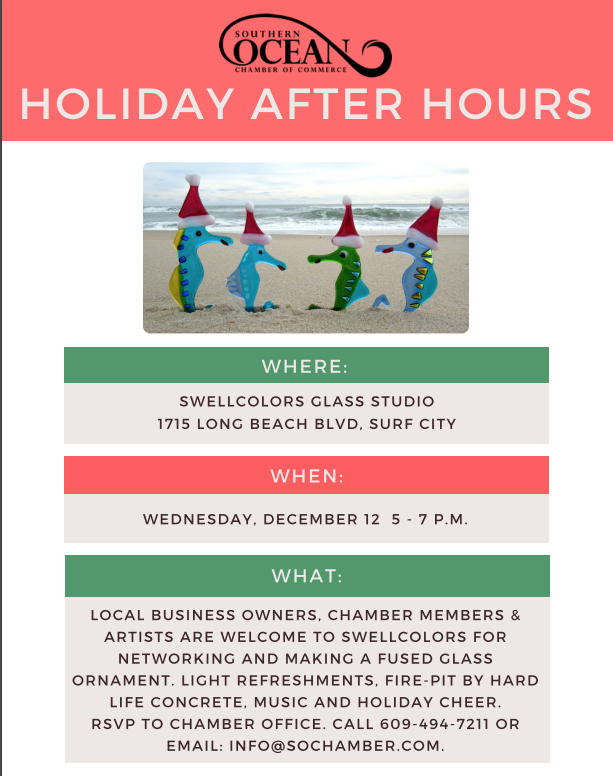Come to SwellColors for this relaxing and fun business after hours. Make merry and make something really cool for the holidays!
