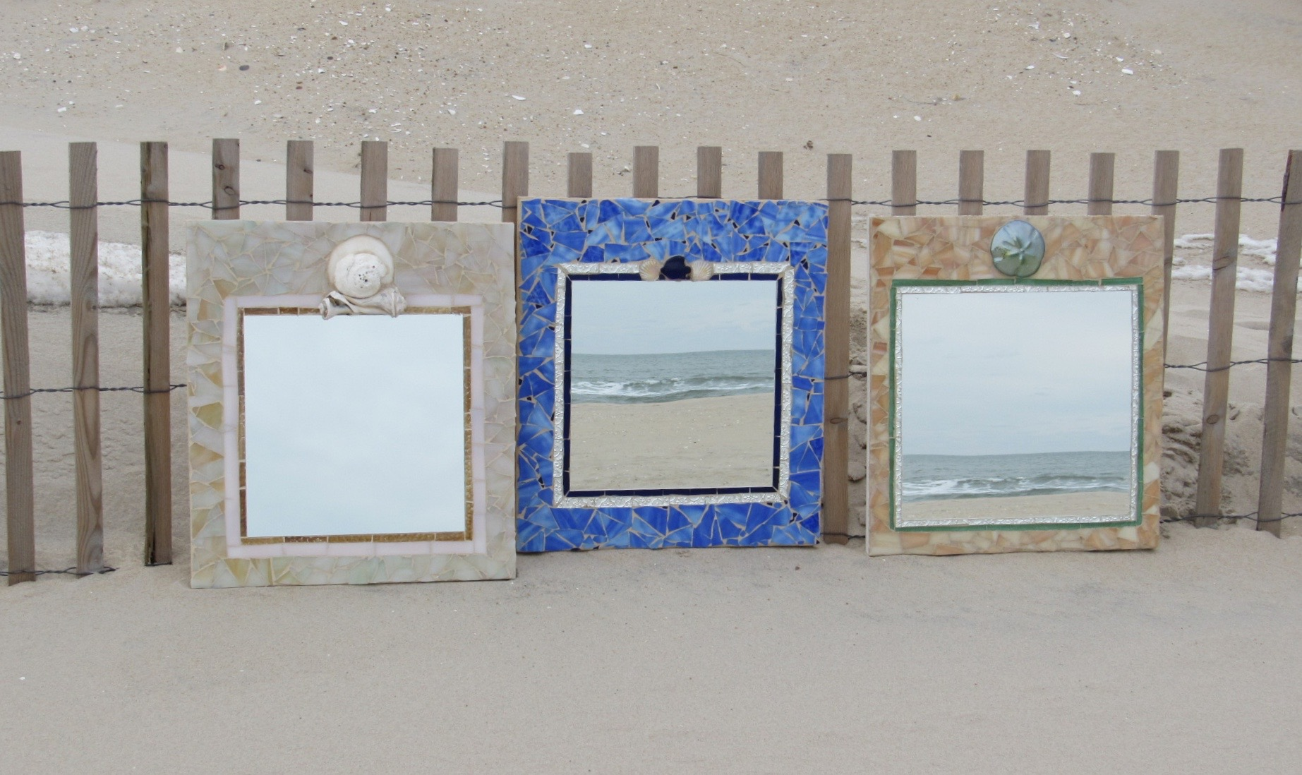 Happy Hour Mosaic Mirrors - Pre-registration required.Make your own 18¨ x 20¨ STUNNINGLY BEAUTIFUL mirror in this festive environment. Professional tools, materials, and expert instructions provided. Take your mirror home at the end of class.This is great for a girls activity night, bachelorette, date nights, birthdays and more!Come here for class then go out to dinner after…Good times!Every Friday, 5-8 PM - Pre-registration required.Price is $95 per person. No exceptions.Refreshments provided. YUM!HAPPY HOUR - By Appointment In The Off-Season