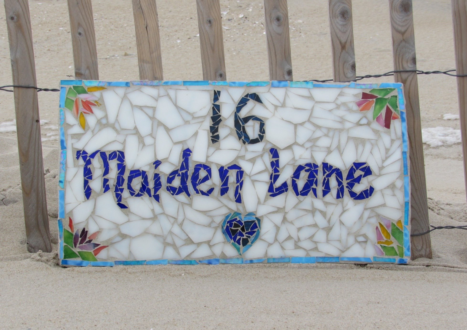 Mosaic Signs & Designs - Make your own custom house number, date plaque & more!Here are the standard sizes for you to choose from: 6¨ x 8¨ - $25 per person8