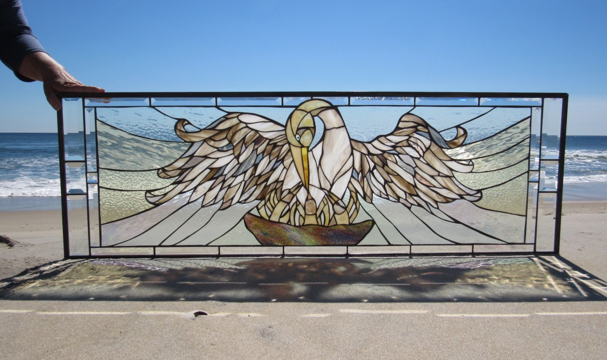 Custom Pelican Medieval Inspired Stained Glass Window 2 .web.jpg