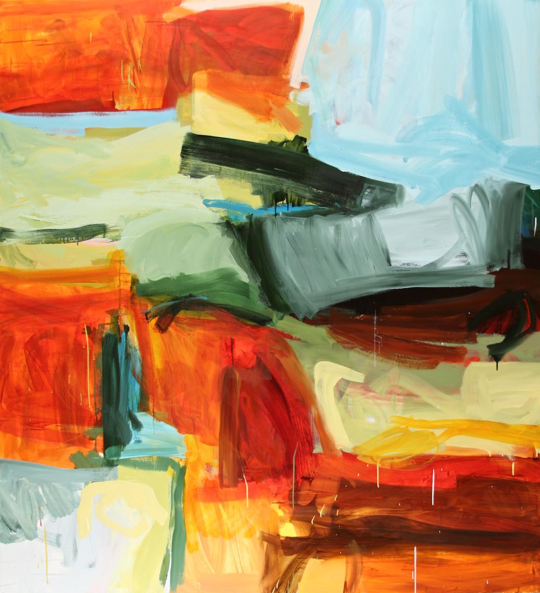 'Cherokee', oil on canvas,    Michael Rich