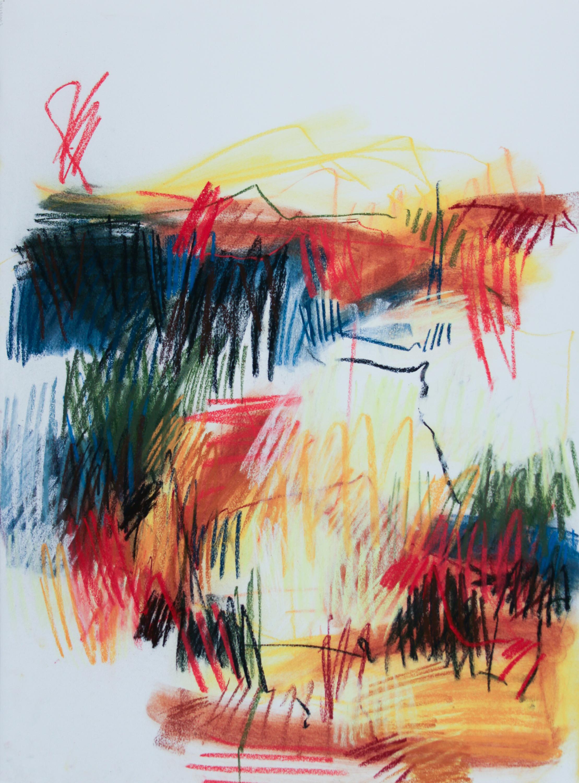 Spring Series II, 2019, pastel on paper, 30 x 22 in
