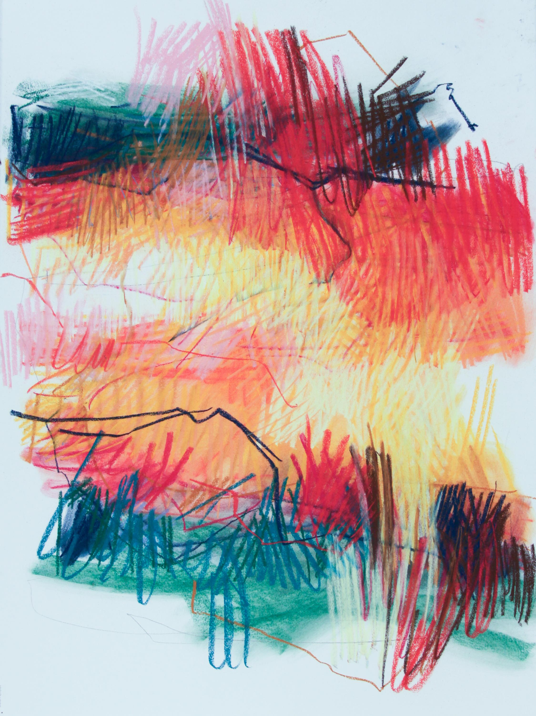 Spring Series III, 2019, pastel on paper, 30 x 22 in