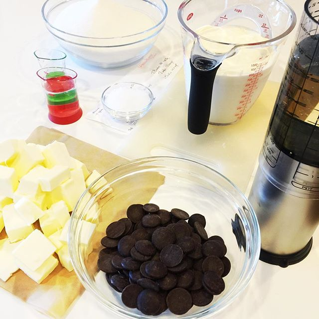 Yummy happenings in the kitchen...in the end this will be dark chocolate sea-salt caramels!!