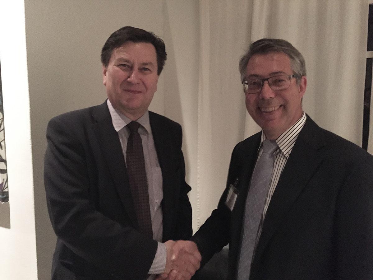 Ambassador Jukka Pietikäinen and FACC President Heikki Bergman