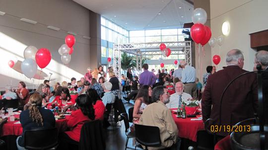 Reception at the Fine Arts Building, Santa Fe College.  March 19, 2013