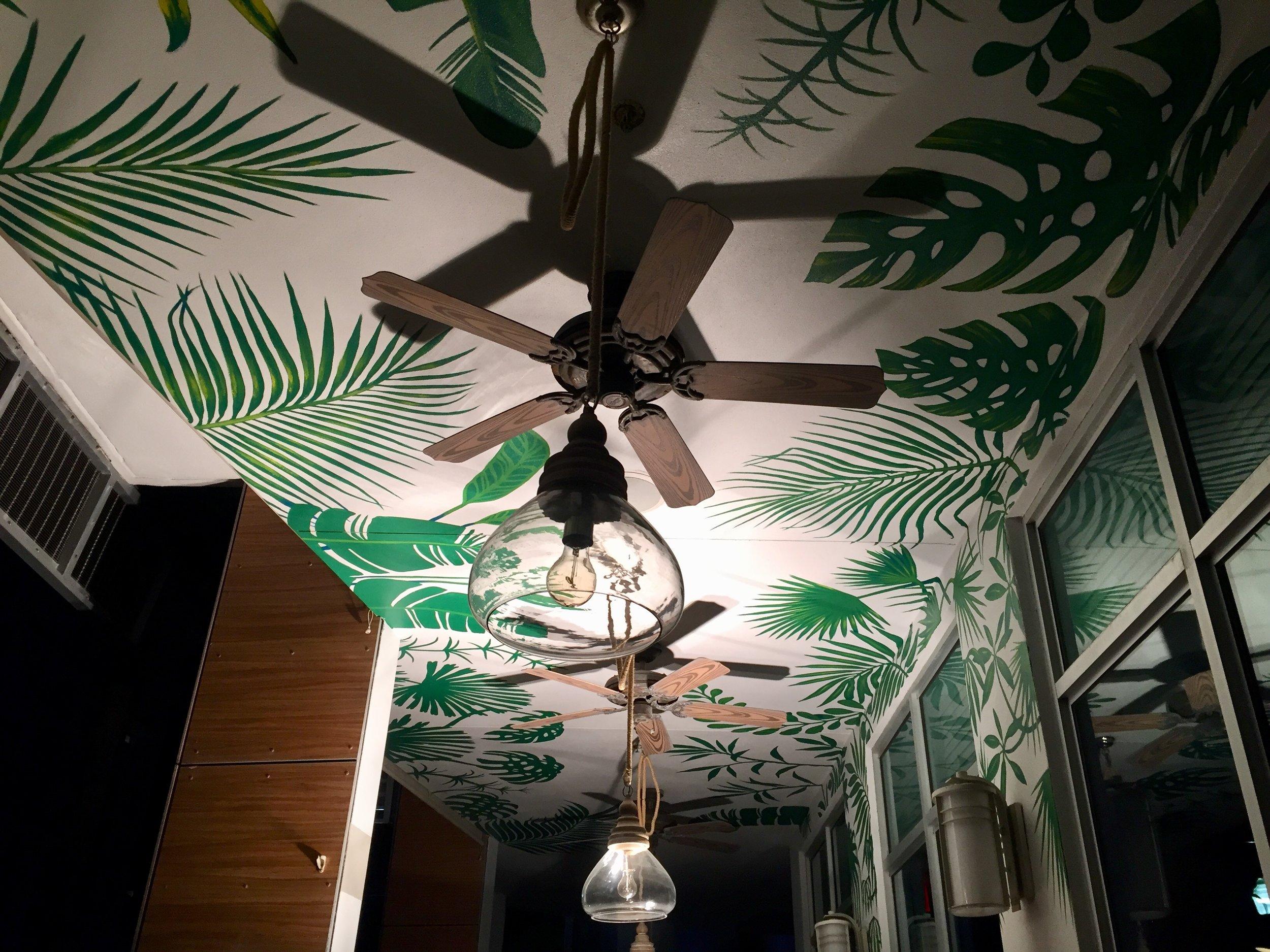 Sense Beach House / The Local House Ceiling Mural - Ocean Drive Miami Florida