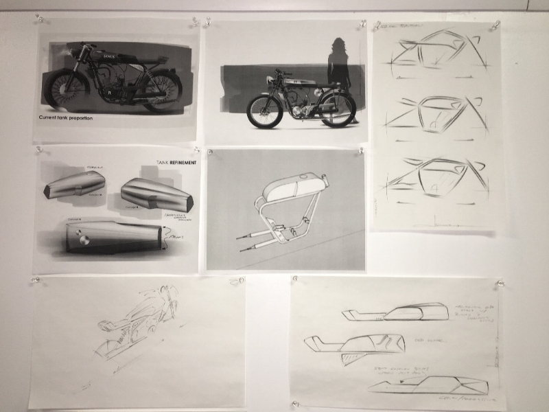 Sketches from different stages in our design process. To see more,  sign up for one of our Discovery Days!
