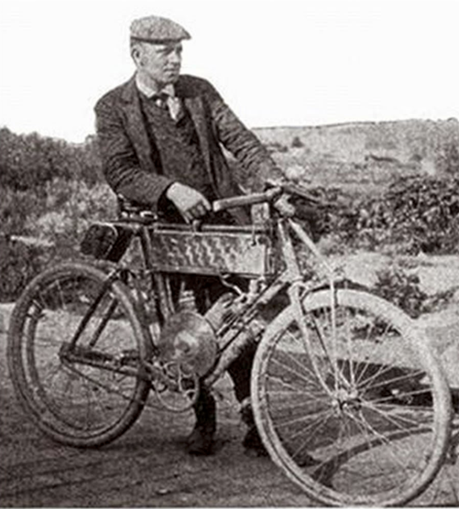 "George Wyman setting the standard for long distance riding panache with his famous ""Wyman pose""."
