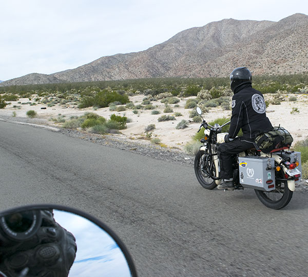 Burbling along on Highway 3, headed to Ensenada along a road few ride. We owned the road that fine morning.