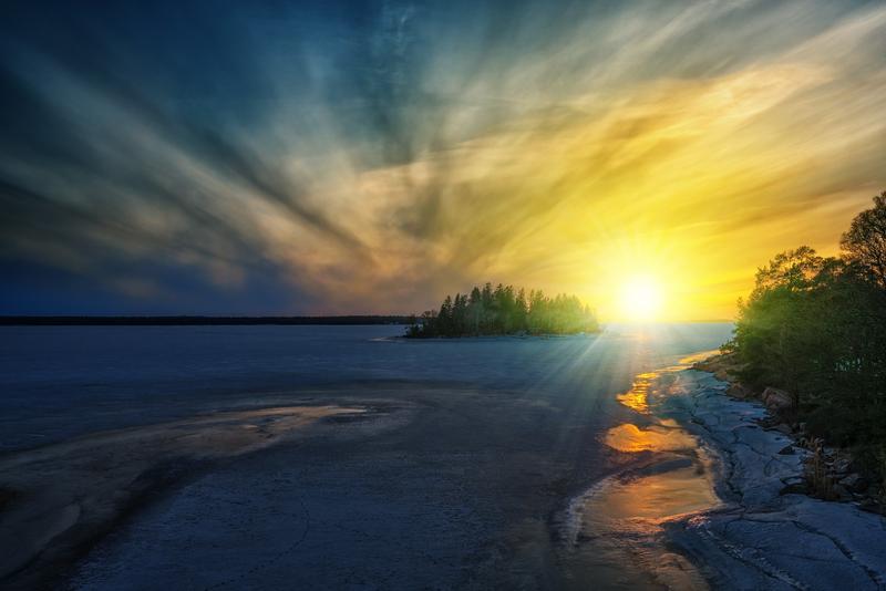 Rising Sun over Water - James O'Dea.png