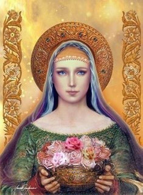 Mary w Flowers - Joke.jpg