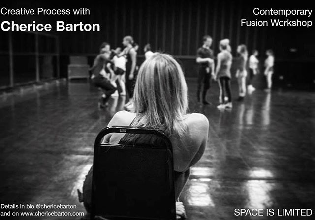 Join us TOMORROW TUESDAY 10/22 at 12:30 in Hollywood Dance Center for a fun, creative workshop with @chericebarton  Space is limited! $15 cash or venmo • • • Be sure to check @chericebarton's bio for updated  information and future classes!