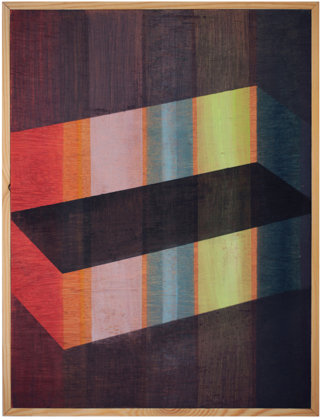 'Inside/Outside', 2014, oil paint and linseed oil on marine ply, 30 x 40 cm
