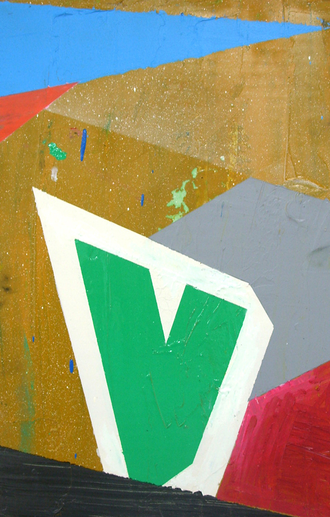'Vision' (After Vision Streetwear), 2007, mixed-media on cardboard, 30 x 20 cm