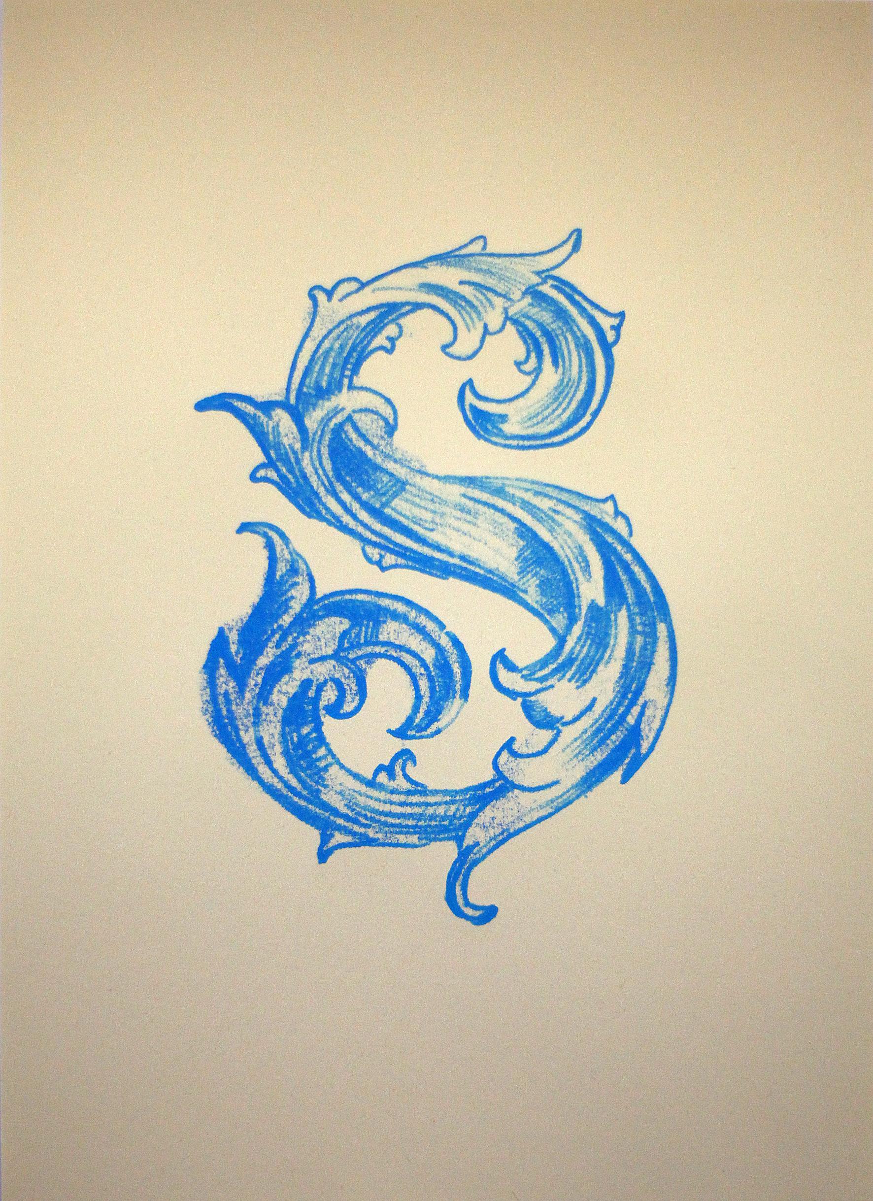 Monoprint on paper, 21 x 29.5 cm