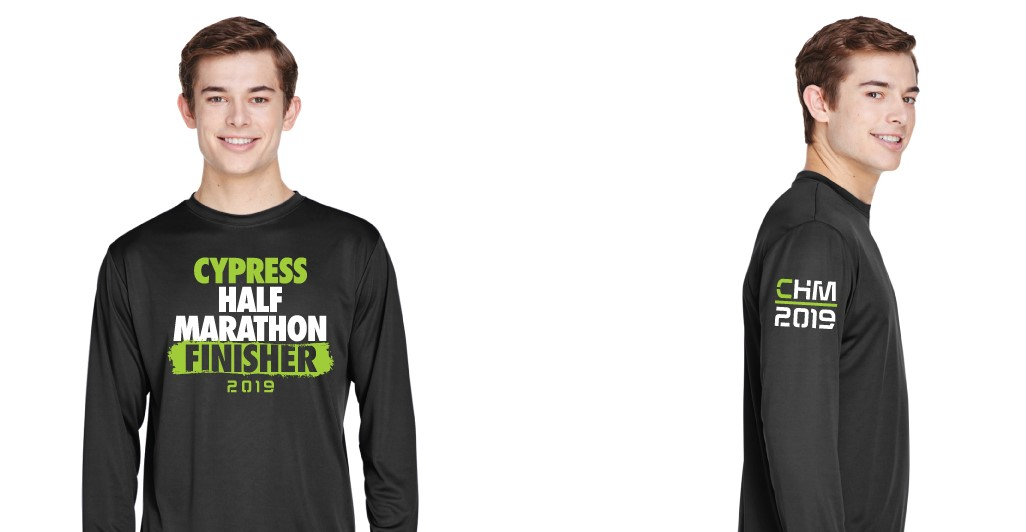 2019 Cypress Half - Exclusive Half Marathon Finisher Shirt