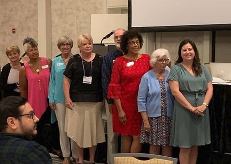LWVMD board member Rachel Federgreen (far right) was inducted into the board of the statewide LWV Florida at the League's 37th Biennial Convention.