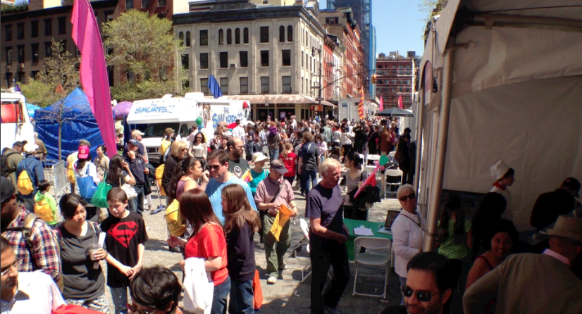Over 200,000 people descend on Tribeca Family Day, and the Animation Chefs are there!