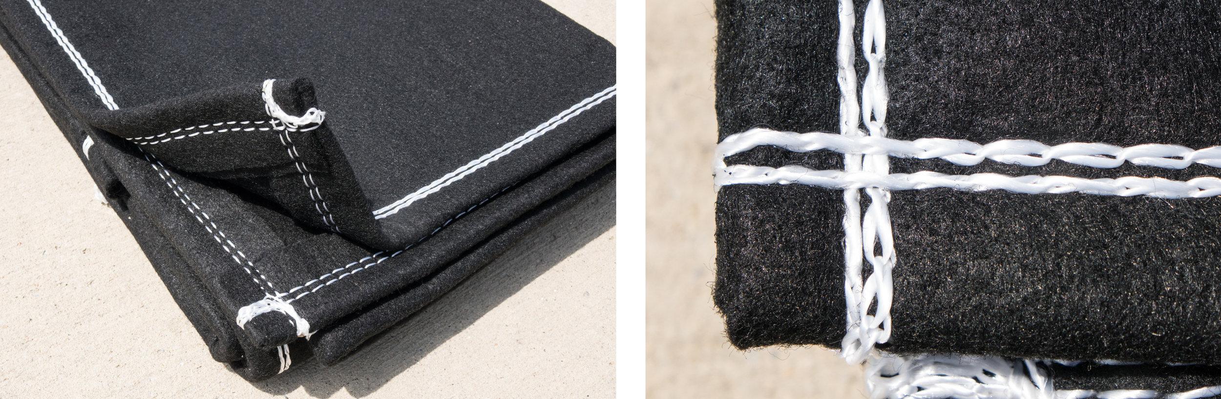Dewatering Bag Filter Bag Silt Bag Dirt Bag Double Sewn Closeup
