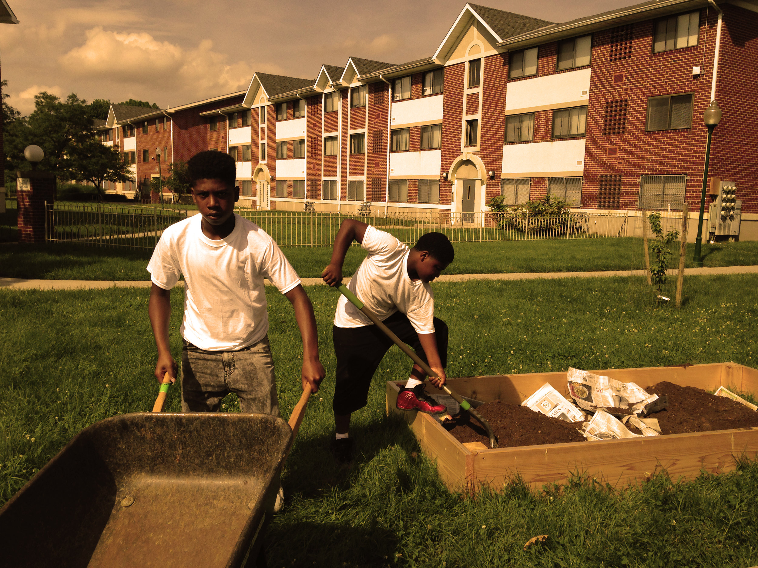 Teenage residents at Paradise Community Peace Garden build a new future by growing their own food.