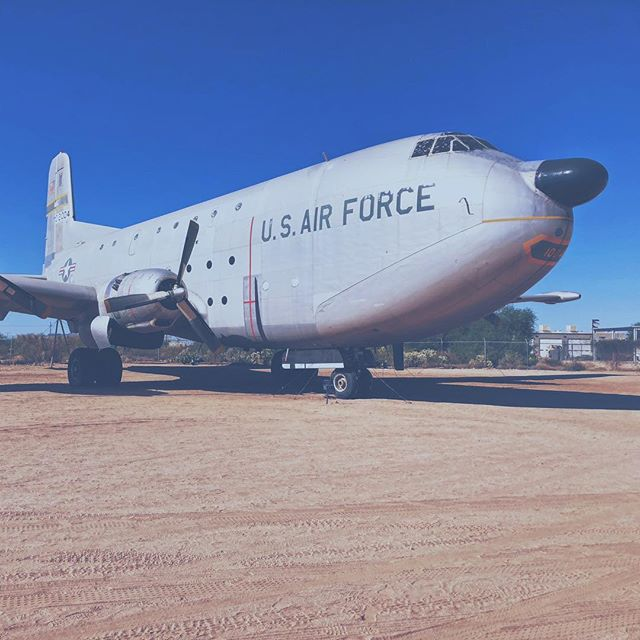 #c124 #airforce #retired #urbanart #militaryindustrialcomplex #tucson #arizona