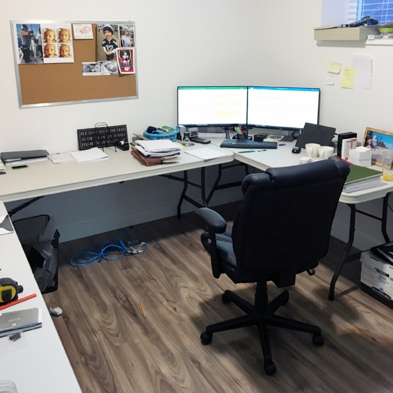 ETRO's first office in the basement of Mike's house