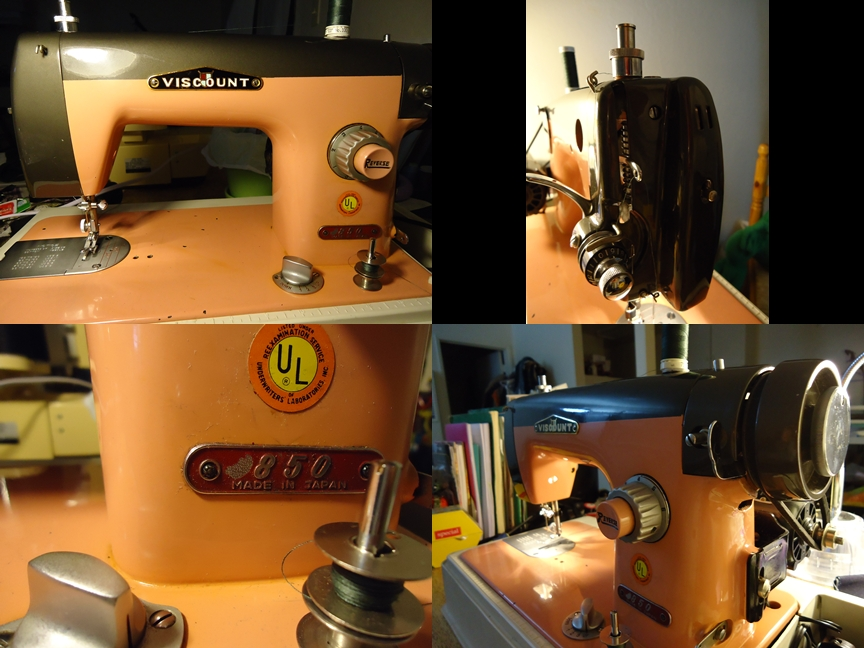 Sexy Vintage sewing, Candy Paint, Two Tone, Pedal to the Metal!! - SajaEgo.com