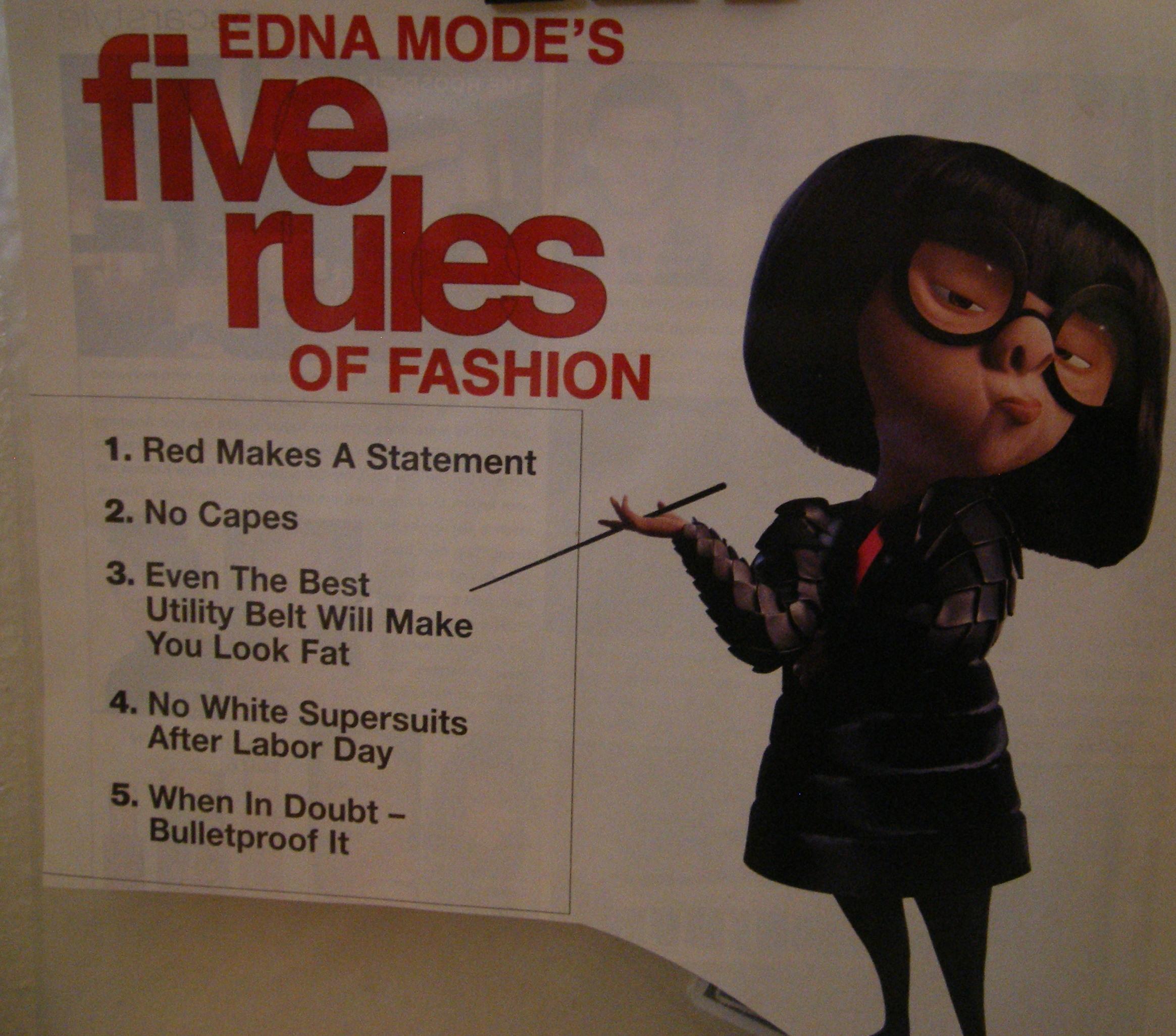 Edna Mode (LOVE HER!) Designer to the Gods! (& Superheroes)!- SajaEgo.com