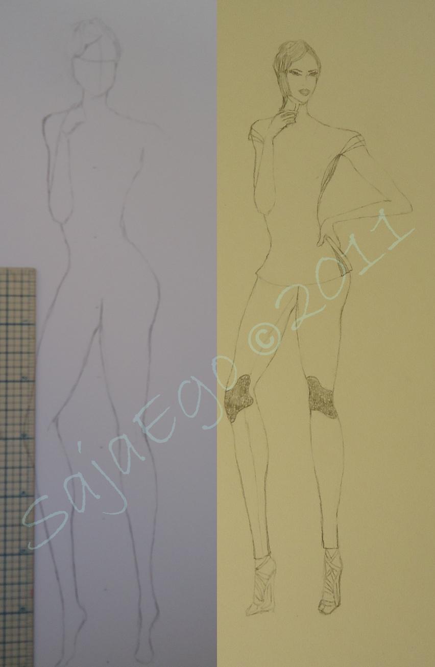 Fashion watercolor illustration by: Soon - SajaEgo.com