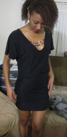 Little Black dress Two Piece for New Years Eve - SajaEgo.com