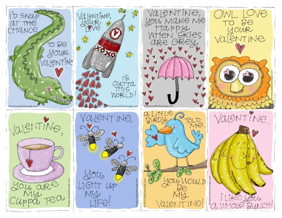 Check out FREE Printable Valentines at  http://freshpickedwhimsy.typepad.com/