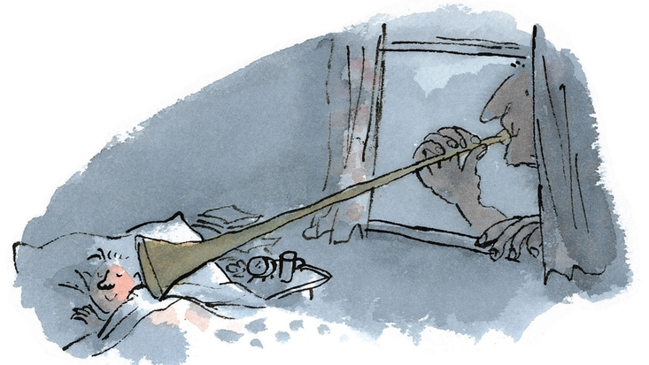Beautiful BFG illustrations by Quentin Blake.