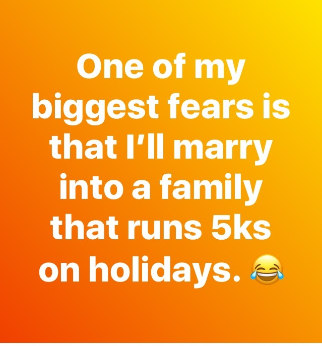 I actually enjoy a good 5k for a good cause. But this made me laugh.