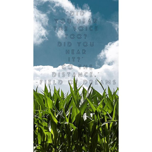 """As a kid, I watched """"Field of Dreams"""" and felt the magic. I saw a man plow his Iowa cornfield to make room for the impossible. As a grown-up #writer, the #film still resonates. I recently had a dream come true: I signed with an incredible literary agent, Natalie Lakosil of @bradfordlitagency Therefore, this film strikes major symbolism. After I signed...I wanted to revisit this classic.  Kevin Costner's character, Ray Kinsella , uproots his """"sensible"""" farm for a dream that threatens financial stability. But the brother-in-law character walks right through the field and misses the magical players. He just can't """"see it"""". As I've poured resources into my writing, I've sensed the strangers, friends and even family sharing his sentiments:""""Are you sure? You're betting everything on a crazy dream!""""I understand that well-meaning concern, but I've plowed forward with my deep dream investment. That's why the film's small moment of power struck me so hard: """"Did you hear the voice too? Did you hear it?"""" """"Go the distance."""" """"YES."""" Suddenly, Ray wasn't alone in this far-fetched plan. He had an ally, outside of his family, who recognized the craziness of his dream AND wanted to go the distance with him. Similarly, Natalie wants to go the distance with me. She sees the powerful possibility in my words and talent. As we partner, build my career and get my manuscripts in front of publishers, I know others will come...I have tended my field; quested after writing to authentically reach readers. That sun has beat down, my friends. At times, I have doubted myself and questioned if my words are #worthy. If you have a #dream, can you relate? Do you long for just one person to #validate your #voice? I get it. Please know that I believe it is bigger than you...the right """"distance-goers"""" will connect with you at the right time. Please #keepyourcourage. You are #notalone. (Tag someone who has a dream you believe in.) #Remember @yourbravetutu (You're brave, too-too!) #takecourageindelight #pow"""