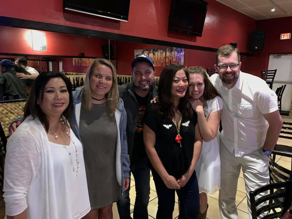 Myrla, Kat, Brandon, Anna, Me, Tim (Carnival Cruise Fam with Mel's sisters)