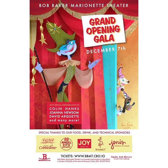 So excited to be able to support our good friends over at @bobbakermarionettes for their Grand Opening in Highland Park. We've been working with them for quite some time and couldn't be happier to see them shine in their new home! Get your tickets soon because this will definitely sell out