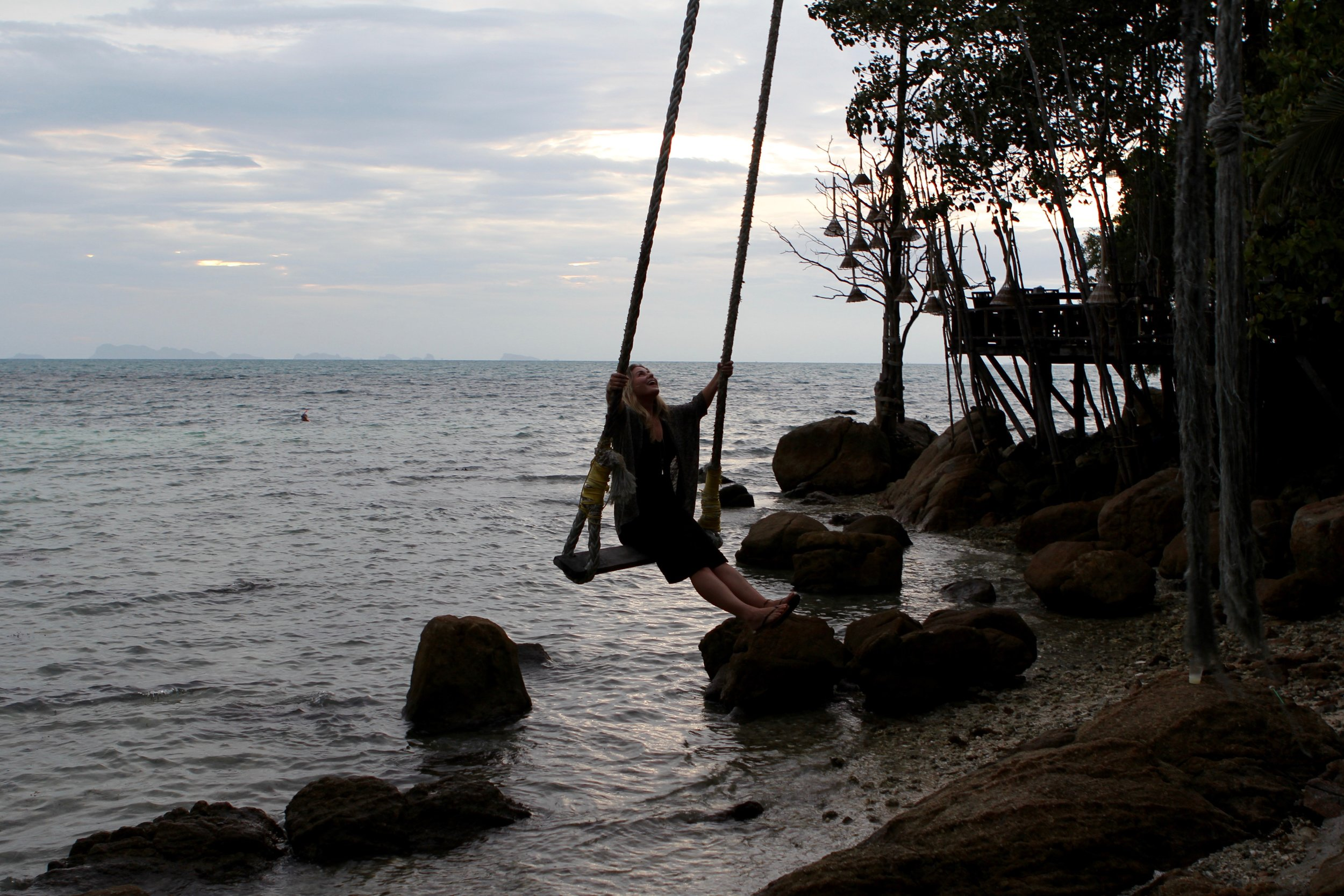 Me on a swing  Because of course Thailand's beaches would have swings
