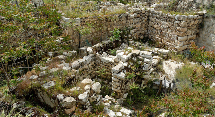 This is a photo of what archaeologists believe is the Water Gate, from where Ezra read from the Law in Nehemiah 8.