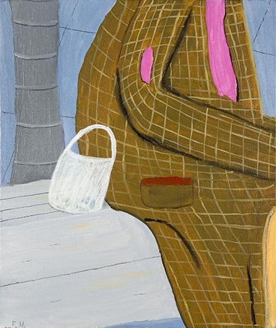Detail painting belonging to Man Eating Chicken