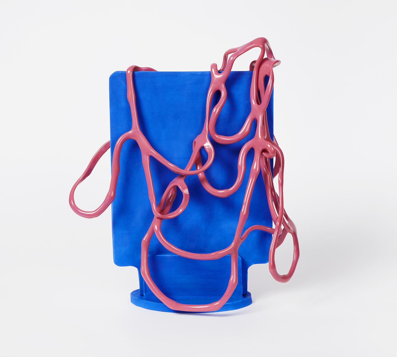 Slab Series; Pink on Blue