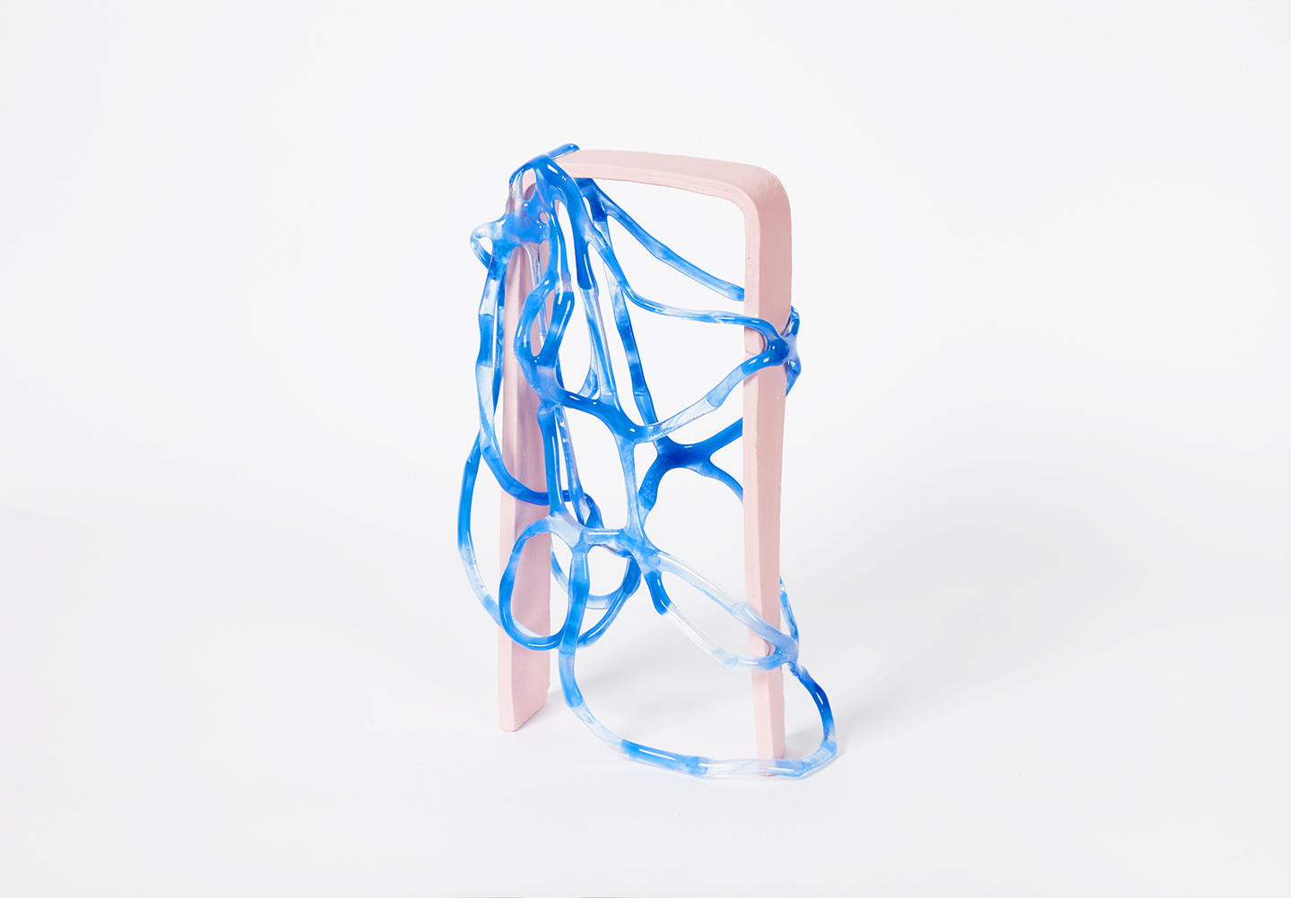 Arch Series; Blue on Pink I