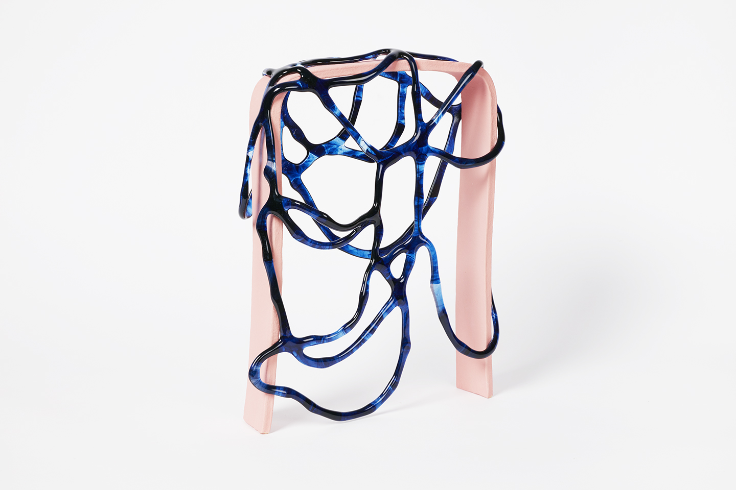 Arch Series; Blue on Pink II